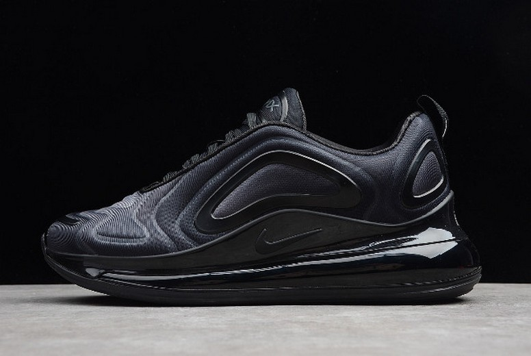 "Mens Nike Air Max 720 ""Triple Black"" Total Eclipse AO2924-004 Shoes"