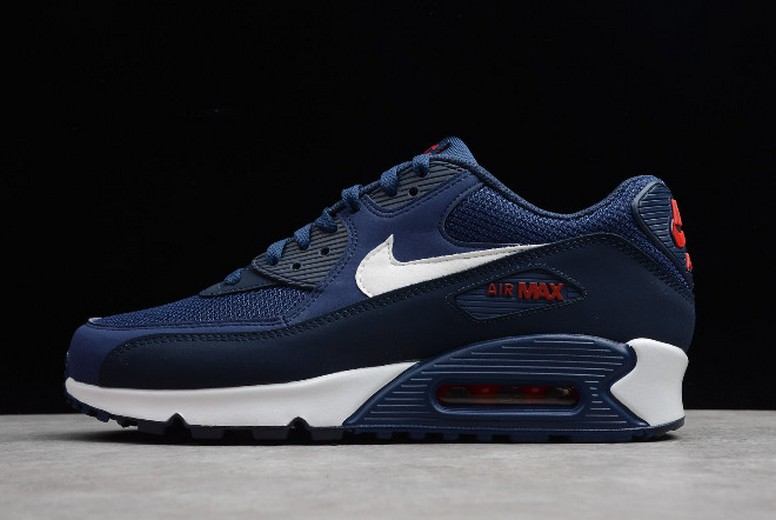 Nike Air Max 90 Essential Midnight Navy University Red White AJ1285-403 Shoes
