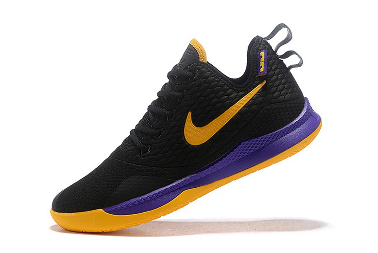 Mens Nike LeBron Witness 3 Black Yellow Purple Basketball Shoes