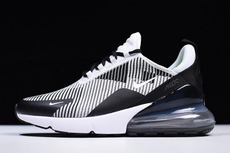 Mens NIKEiD Air Max 270 Black Grey White AO1023-993 Running Shoes