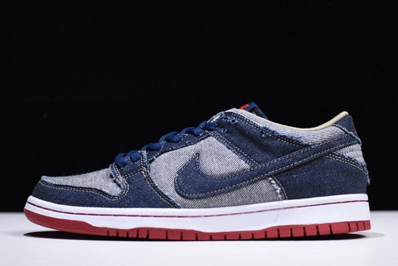 "Mens Reese Forbes x Nike Dunk Low Pro SB ""Denim"" 304292-441 Shoes"