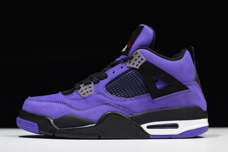 Mens Travis Scott x Air Jordan 4 (IV) Retro Purple 308497-510 Shoes