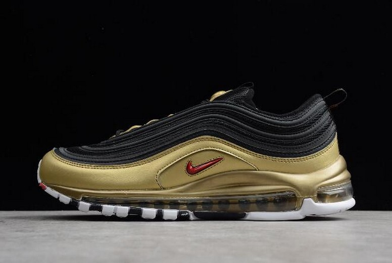 "New Nike Air Max 97 QS ""B-Sides Metallic Gold"" AT5458-002 hoes"