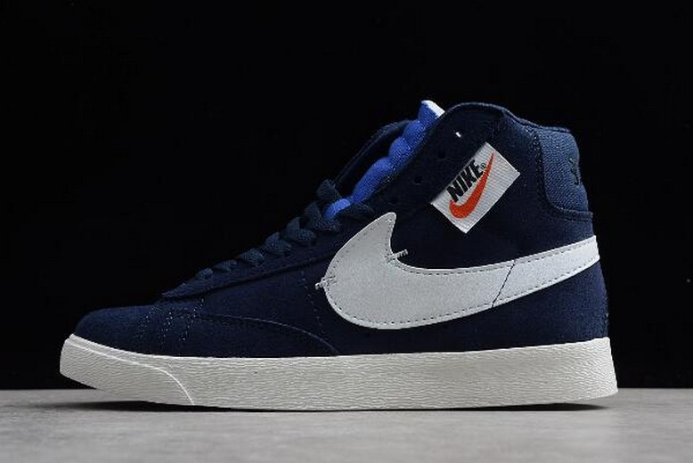 "2018 Nike Blazer Mid Rebel XX ""Blackened Blue"" BQ4022-401 Shoes"