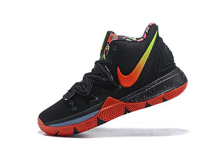 New Nike Kyrie 5 Black Red Volt Pink Basketball Shoes