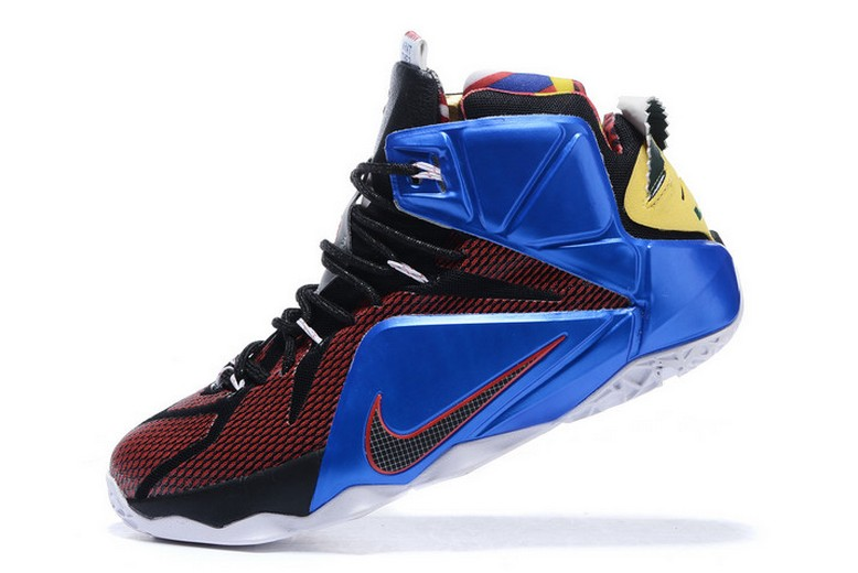 "2019 New Nike LeBron 12 (XII) ""What The"" Multicolor 802193-909 Basketball Shoes"
