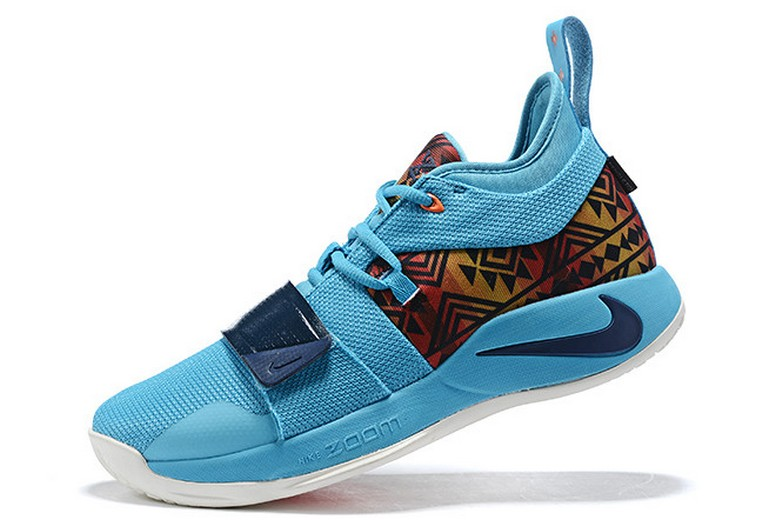 "2019 Nike PG 2.5 ""Pendleton"" Multi-Color College Navy CI0294-900 Basketball Shoes"