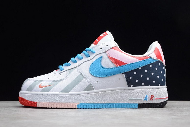 2019 Nike Air Force 1 Parra White Multi-Color AH8462-100 Shoes
