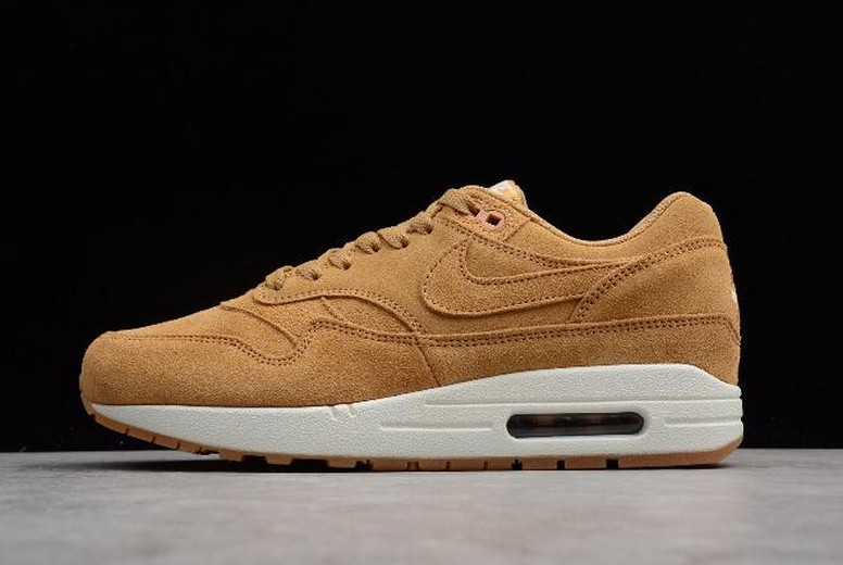 "Nike Air Max 1 Premium ""Wheat"" Flax Gum Medium Brown 875844-203 Shoes"