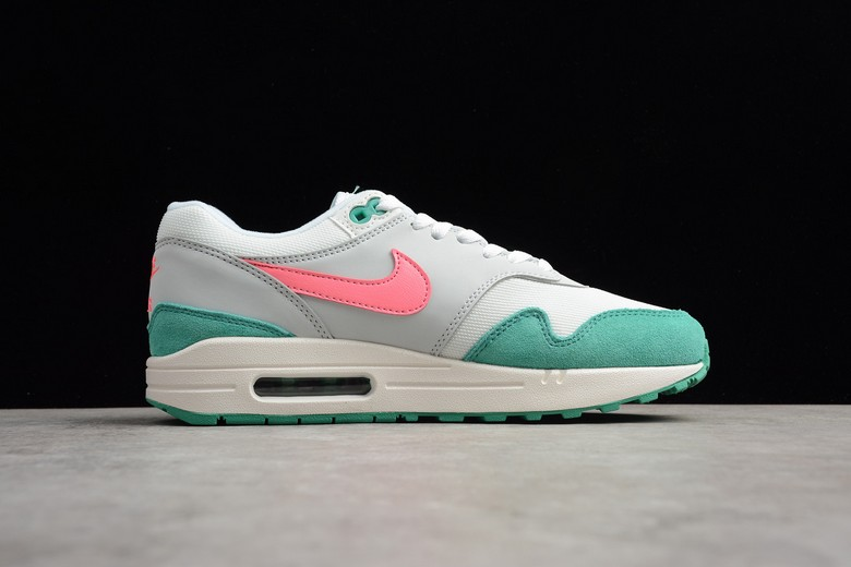 "Nike Air Max 1 ""Watermelon"" Summit White Sunset Pulse Kinetic Green AH8145-106 Shoes"