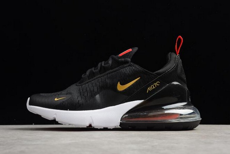 Nike Air Max 270 France Become World Cup 2018 Champions Black Gold AH8050-117 Shoes