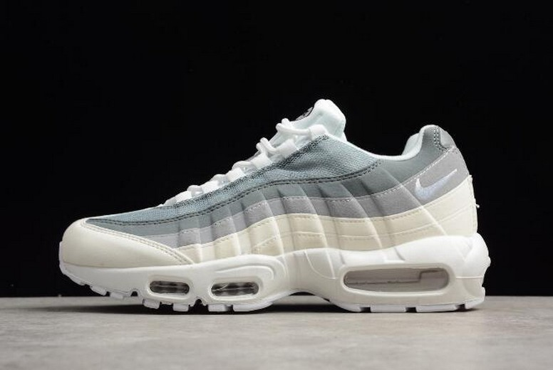 Nike Air Max 95 ID Cool Grey Wolf Grey White Running Shoes