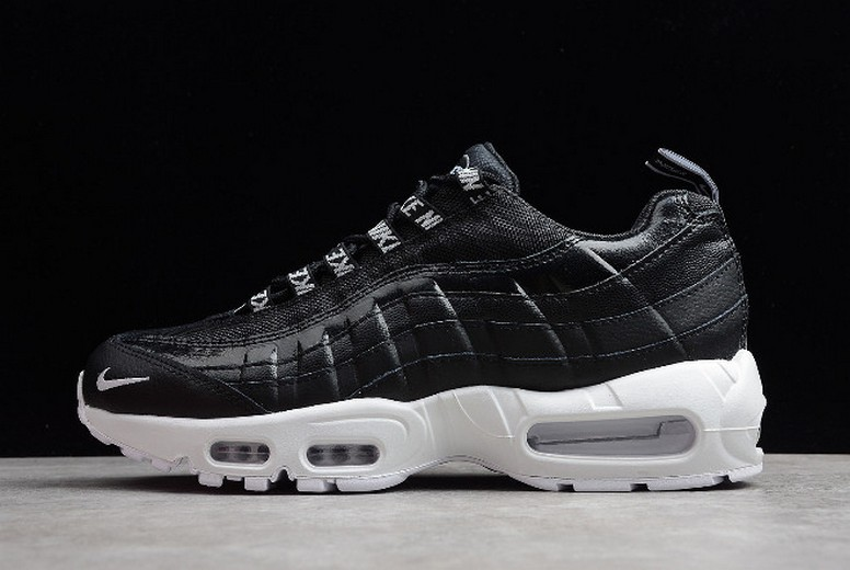 "Nike Air Max 95 Premium ""Overbranded"" Black White 538416-020 Shoes"