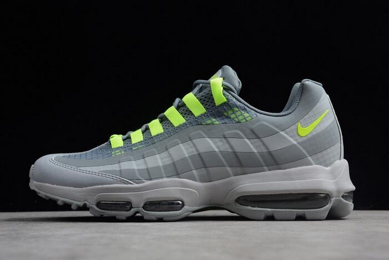 Nike Air Max 95 Ultra SE Wolf Grey Volt Cool Grey Running Shoes