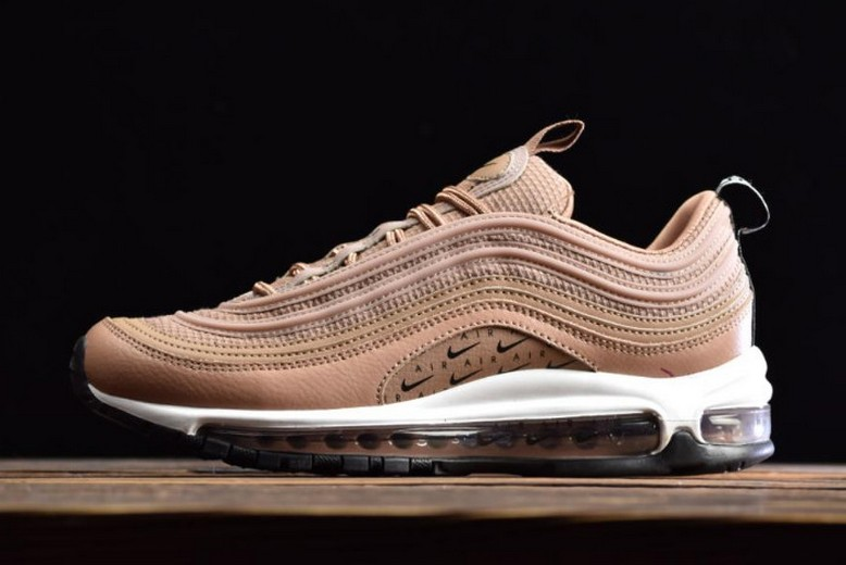 "Nike Air Max 97 Lux ""Tan"" Desert Dust Black White AR7621-200 Running Shoes"