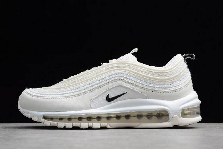 "Nike Air Max 97 ""Reflective Logo"" Sail Black White AR4259-100 Shoes"