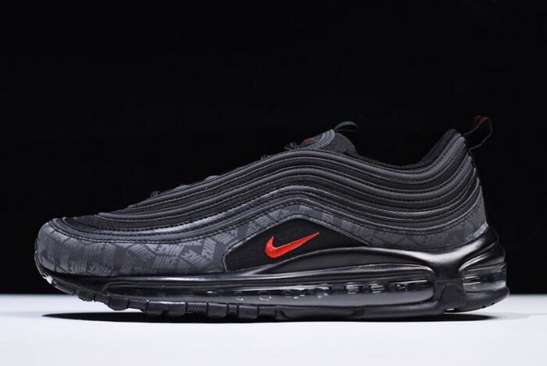 Nike Air Max 97 Reflective Logos Black University Red AR4259-001 Shoes
