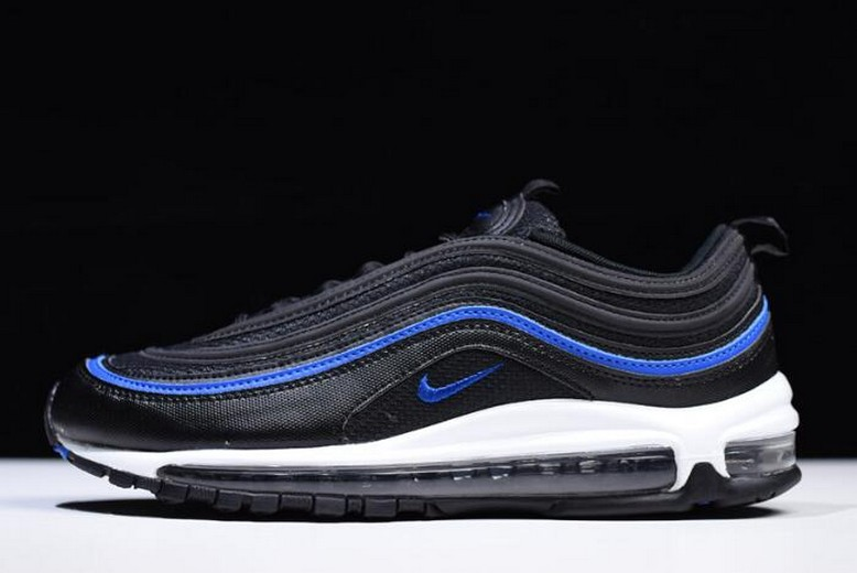 Nike Air Max 97 Shoes OG Mesh Anthracite Black Racer Blue AR5531-001 Shoes