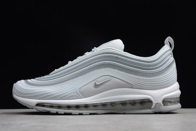 "Nike Air Max 97 Ultra '17 ""Pure Platinum"" AH7581-001 Running Shoes"