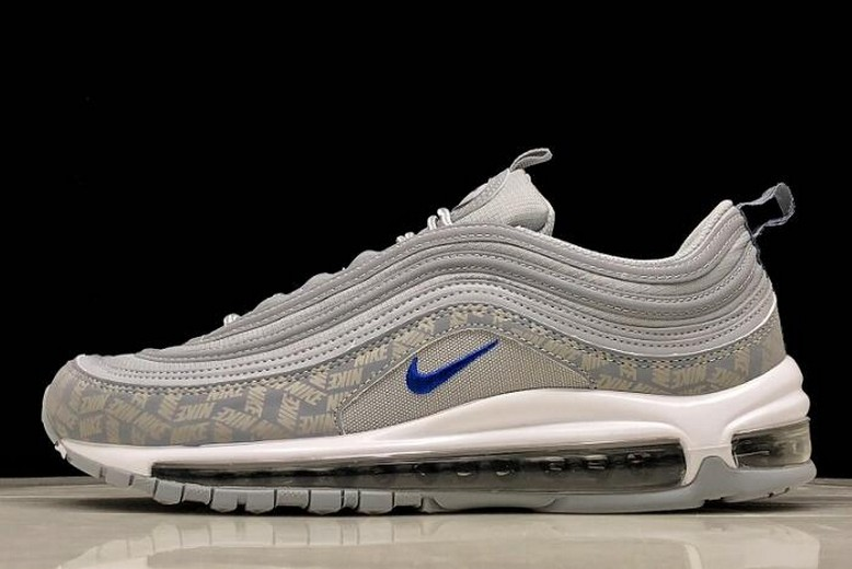 Nike Air Max 97 Wolf Grey Game Royal BQ3165-001 Running Shoes