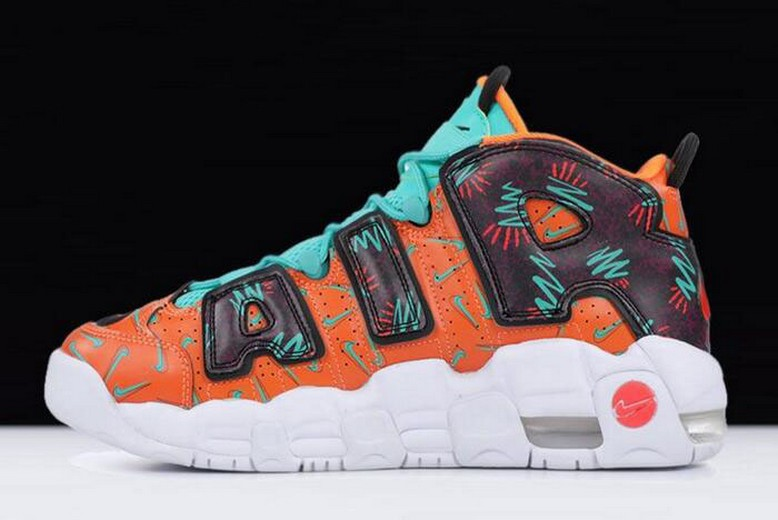 "Nike Air More Uptempo ""What The 90s"" AT3408-800 Shoes"