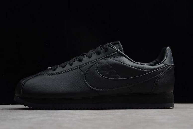 Nike Classic Cortez Black Anthracite 749571-002 Leather Shoes