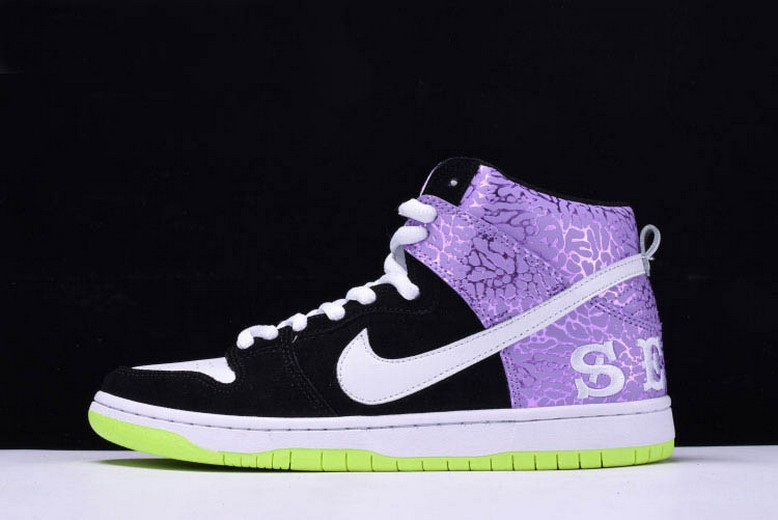 "Nike Dunk High Prm SH ""Send Help 2"" Black White Dark Raspberry 616752-016 Shoes"