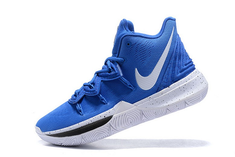 "Nike Kyrie 5 ""Blue Devils"" Blue White Black Basketball Shoes"