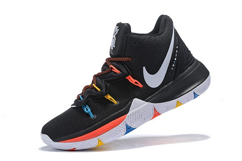 "Nike Kyrie 5 ""Friends"" PE Black Multicolor Basketball Shoes"