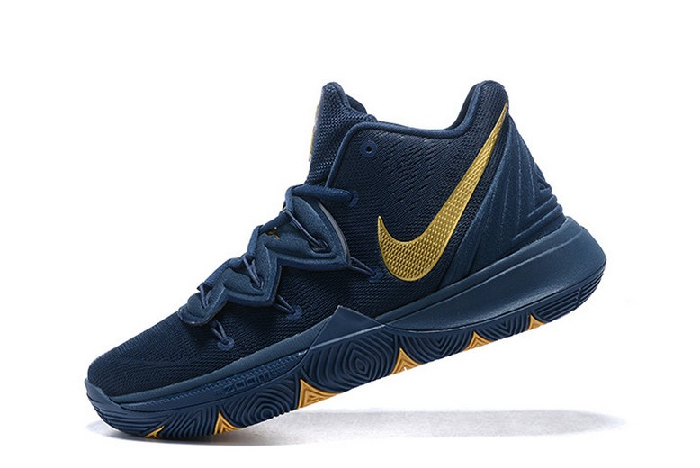 "Nike Kyrie 5 ""Philippines"" Navy Blue Metallic Gold Basketball Shoes"