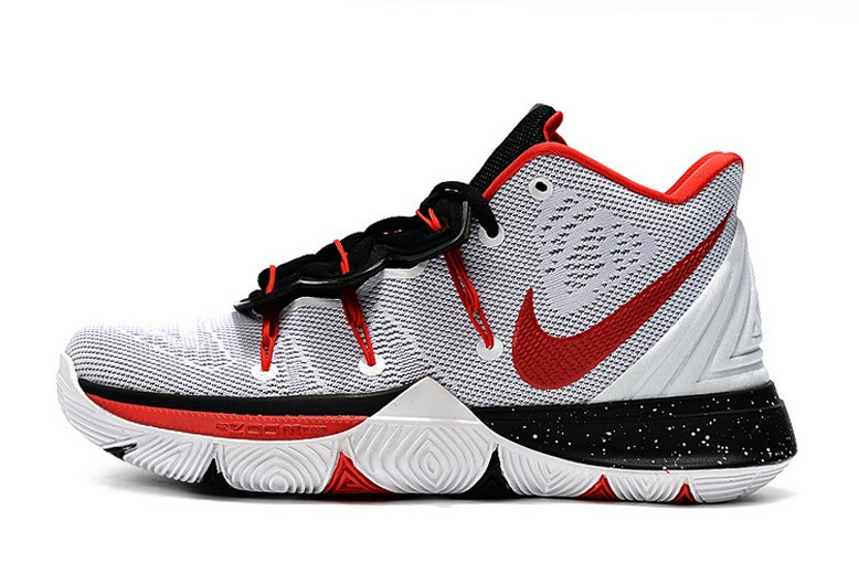 Nike Kyrie 5 White Red Black Baskebtall Shoes