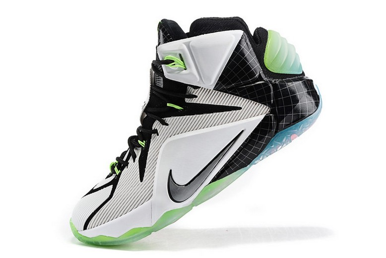 "Nike LeBron 12 (XII) ""All-Star"" White Black 742549-190 Basketball Shoes"