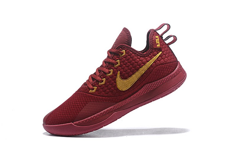 Nike Lebron Witness 3 Red Wine Metallic Gold Basketball Shoes