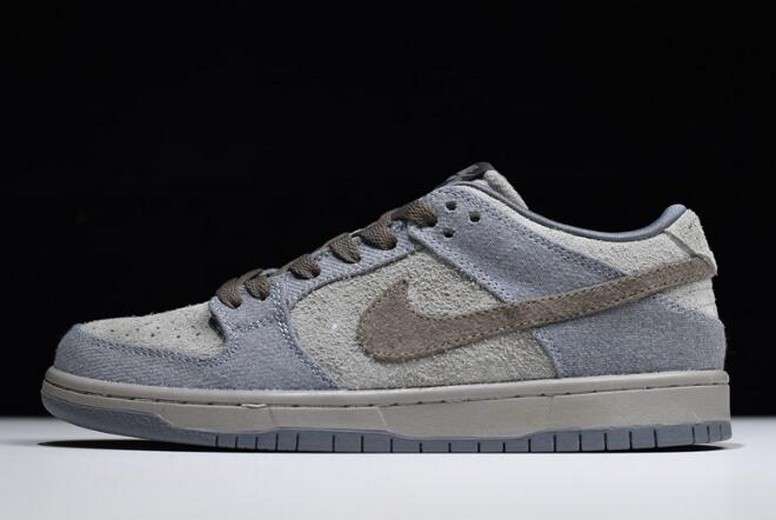 "Nike SB Dunk Low Premium ""Tauntaun"" Medium Grey Smoke Cool Grey 854866-026 Shoes"