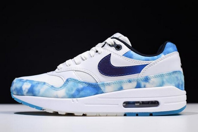 "Nike WMNS Air Max 1 ""N7"" White Court Purple Dark Obsidian AO2321-100 Shoes"
