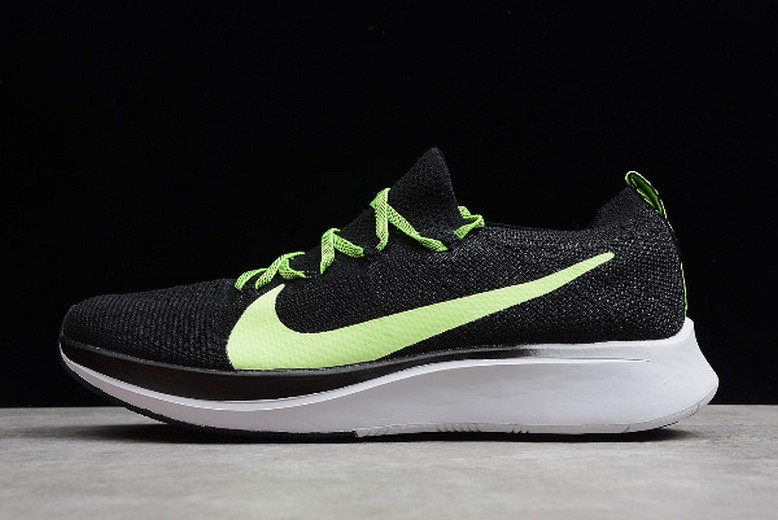 Mens Nike Zoom Fly Flyknit Black Green White AR456-400 Shoes