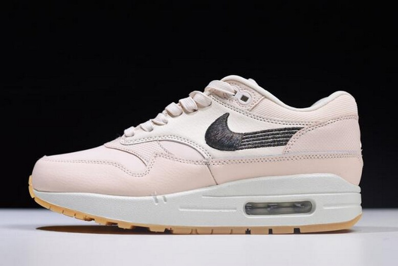Off White Nike Air Max 1 WMNS Premium Guava Ice Gum Yellow 454746-800 Shoes