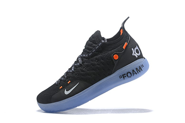 Off White x Nike Kevin Durant KD 11 Black White Orange Basketball Shoes