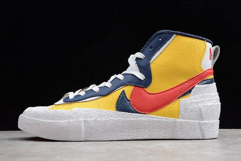 Sacai x Nike Blazer Mid Yellow White Red Black BV0072-002 Shoes