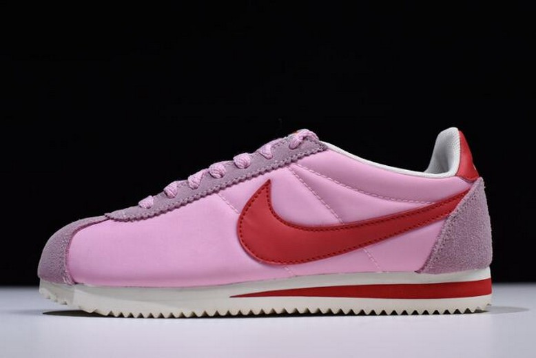 Womens Nike Cortez Rose Pink University Red White 882258-601 Shoes